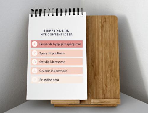 Fem sikre måder til forrygende content